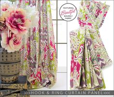 Traditional Hook & Ring Curtain Panel: Waverly World | Sew4Home