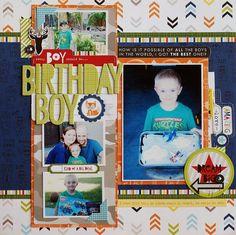 #papercraft #scrapbook #layout. Becki Adams Designs