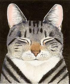 cat art, kitty cats, animal paintings, cat illustrations, dog cat, kitty kat, kay mcdonagh, cat naps, artwork