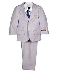 """James Morgan """"Slate & Stripe"""" 5-Piece Suit (Sizes 12M - 24M)"""