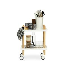 Block Table Rolling Kitchen Cart $280