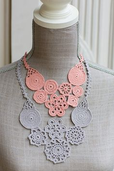 Tejidos - knitted 2 - crochet necklace