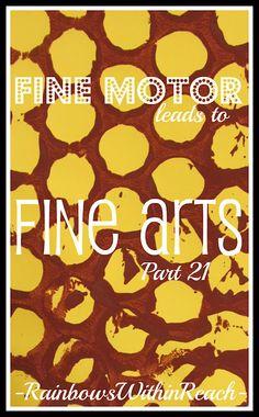FIne Motor art/craft activities