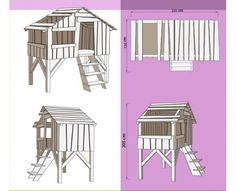 cabane on pinterest montages mezzanine and playhouses. Black Bedroom Furniture Sets. Home Design Ideas