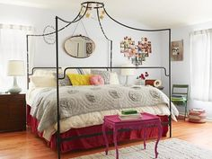 Fall asleep in this whimsical bedroom and see what you can dream up. #hgtvmagazine http://www.hgtv.com/decks-patios-porches-and-pools/family-style-mom-decorated-kid-approved/pictures/page-18.html?soc=pinterest
