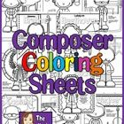 This charming set of coloring pages will introduce your students to 12 famous composers. Use individually or make them into a book!