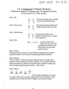 PERFECT at home workout for days you can't leave the house.  This works your arms and legs SO GOOD!