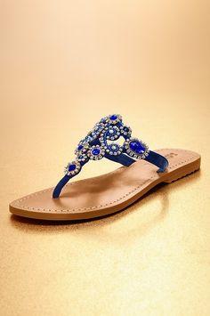 Boston Proper Mystique blue embellished sandal #bostonproper