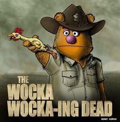 geek, funny pictures, funni, zombi, walking dead, the muppets, walk dead, walkingdead, wocka wocka