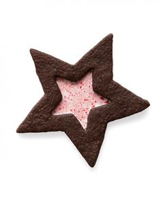 Chocolate-and-Peppermint Star Cookies for Christmas