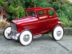 kid toy, red, pedal cars, hotrod, car hot, pedalcar, peddl car, hot rods, kids toys