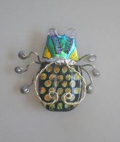 Fused Dichroic Glass Bug Pin