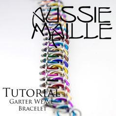 Instructions :: Tutorials :: Aussie Maille Tutorials :: Garter Weave Bracelet Tutorial PDF - Aussie Maille - Chain Maille Supplies. Jump rin...