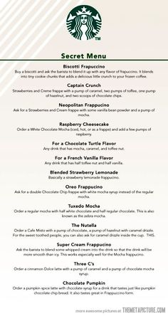 Starbuck's secret menu