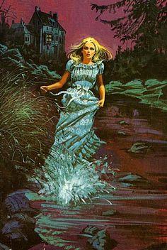 Vintage Horror Art: Wandering Women in Nightgowns