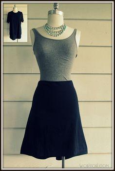 WobiSobi: No Sew, T-Shirt Skirt: DIY