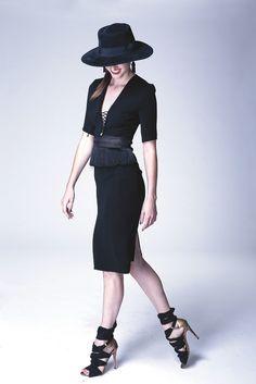 Altuzarra's stretch triacetate dress. [Photo by Thomas Iannaccone]
