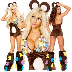 Dare Bear Fuzzy Costume [JVJJ182-184] - $199.95 : Clubwear, Pole Dancing Clothes, Exotic Wear and Stripper Clothes