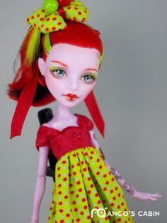Cherry OOAK Custom Repaint Monster High Doll by Mango's Cabin | eBay cherri, cabin, high doll, custom repaint, monsterhigh ooak, repaint monster, monster high, custom doll, ooak custom