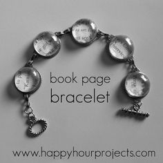 Book pages bracelet