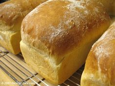 honestly, the best bread recipe ever.  I've made it SO many times - so easy, so yummy, so versatile - you can modify it to make cinnamon rolls, dinner rolls, baguettes, anything. :)