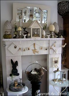 White Easter mantle