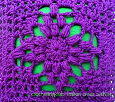 crochetingclub: seville square cushion