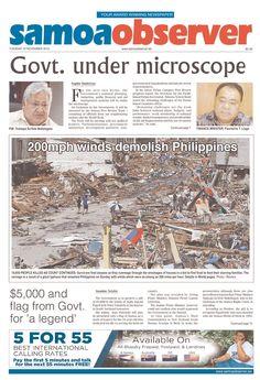 Cover of 'Samoa Observer'