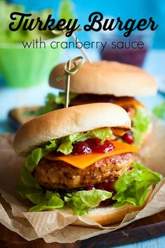 Turkey Burger Recipe with Cranberry Sauce