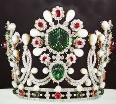 This is a tiara from the Iranian Crown Jewels