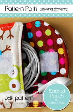 Ear Bud Pouch - To carry your ear buds in your purse, cute & brilliant.