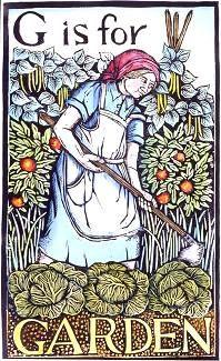 garden art, illustr garden, print