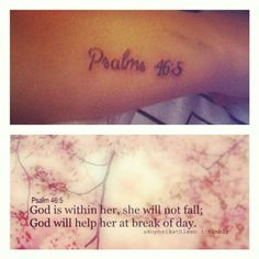Love the scripture tat should have been better