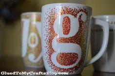 DIY Painted Mugs - T