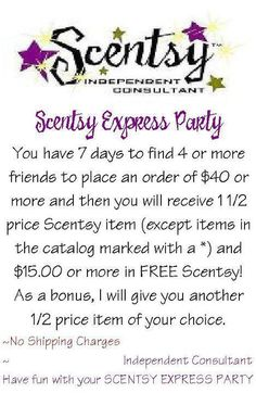 Scentsy Express Party: How fun would this be???