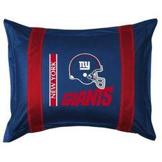 Sports Coverage 01JSSHM1GIASTAN Sideline New York Giants Sham in Bright Blue