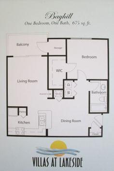 Villas at lakeside oviedo on pinterest lakeside living for 675 sq ft floor plan