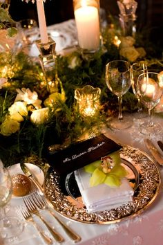 {Chartreuse Starlight Table Setting}