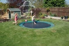 Inground trampoline and maintenance