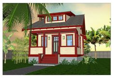 The Sago Cottage Bungalow - Free House plan. I really like this particular style. Think this is a doer! Now...where to put it?
