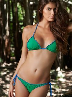 Juicy Green Triangle Bikini     - Beauty awakens the soul to act, so this summer time wearing your alluring triangle bikini let it run wild into finding your destiny of love, peace and happiness!   - Price $156