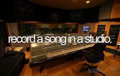 bucket list sing, bucketlist, cool bucket list, record a song in a studio, dream, die, recording studio, bucket list make, bucket lists