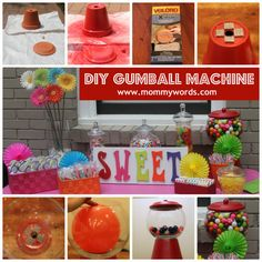 DIY Gumball Machine great for candy party or kids crafts!