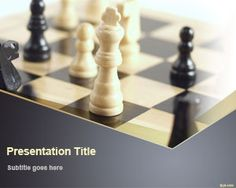 FreeChess Game PowerPoint Template is an awesome slide design with chess board and chess pieces that you can download to make presentations on business strategy but also to prepare awesome presentations on chess strategies