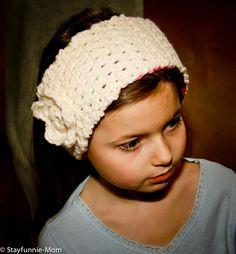 Fleece lined crochet headband--free pattern