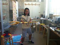 Ceramics Resident: Nao Matsunaga, April – October 2014, Nao in his studio. © Victoria and Albert Museum, London