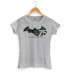 Camiseta Feminina Batman 75 Anos Logo 2 #Batman75 #DCComics