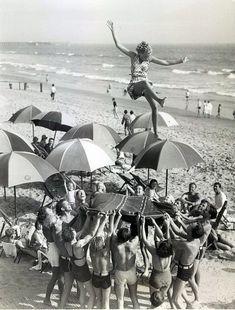 1933 beach fun.