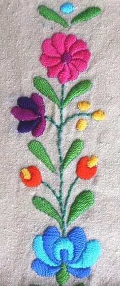 PDF embroidery pattern: Matyó floral motifs