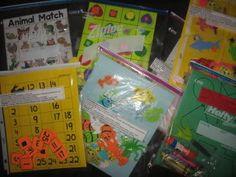 Plenty of ideas for pre schooler educational activity bags